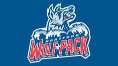 Meaning Hartford Wolf Pack logo and symbol American Hockey League, Hockey Logos, Ice Hockey, His Eyes, Shades Of Blue, Balls, Wolf, Old Things, Club