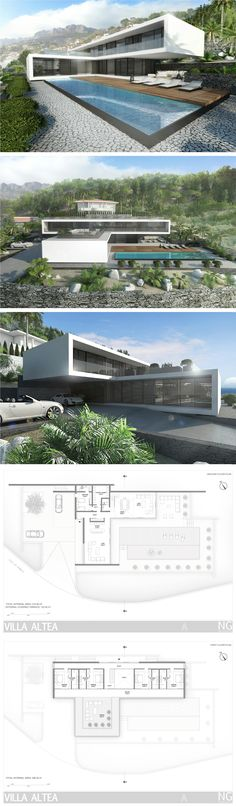Modern villa in Spain by NG architects www.lt: Modern villa in Spain by NG architects www. Residential Architecture, Contemporary Architecture, Amazing Architecture, Interior Architecture, Rendering Architecture, Futuristic Architecture, Sustainable Architecture, Conception Villa, Casas Containers
