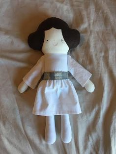 Princess Leia Star Wars fabric doll, Stuffed toy, Girl doll, by gertyg on Etsy https://www.etsy.com/listing/230823768/princess-leia-star-wars-fabric-doll