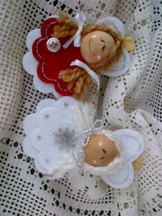 idea for decoration Angel Crafts, Felt Crafts, Christmas Crafts, Christmas Ornaments, Angel Ornaments, Felt Ornaments, Christmas Angels, Christmas Art, Felt Angel