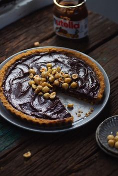 You can make this Eggless No Bake Nutella Tart with just 5 ingredients.The luscious Nutella filling is to die for! Eggless Desserts, Eggless Recipes, Eggless Baking, Tart Recipes, Fun Desserts, Baking Recipes, Dessert Recipes, Summer Desserts, Egg Recipes