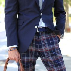 Plaid pants. I love patterns paired with solids.