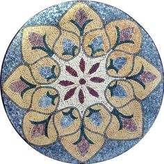 Mosaic Medallion - Flower of The Nile