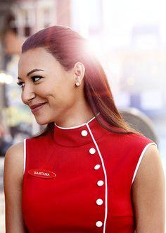 Naya Rivera (Santana) I think she's one of the most beautiful girls in the show