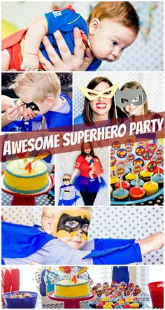 Awesome Superhero Themed Birthday Party! Perfect for a little boy!