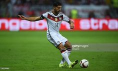 Emre Can of Germany runs with the ball during the EURO 2016 Qualifier Group D match between Germany and Poland on September 4, 2015 in Frankfurt am Main, Germany.  (Photo by Lars Baron/Bongarts/Getty Images)