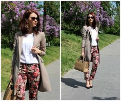 Get this look: http://lb.nu/look/8252563  More looks by Jana Dishani: http://lb.nu/margifashion  Items in this look:  Margi Fashion Jacket, Margi Fashion Shirt, Margi Fashion Trousers, Michael Kors Bag, Ralph Lauren Sunglasses   #elegant #formal #street