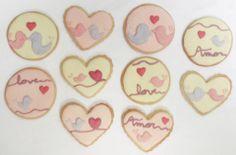 Galletas de Pájaros hechas para la celebración de una boda. Por Cookie Factory