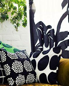 "Marimekko PUKETTI cushion cover Black Green 20"": Amazon.ca: Home & Kitchen"