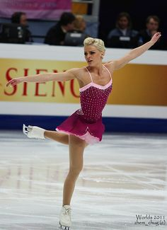 Viktoria HELGESSON, -Pink Figure Skating / Ice Skating dress inspiration for Sk8 Gr8 Designs.