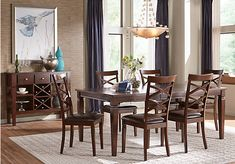 Riverdale Cherry 5 Pc Rectangle Dining Room with X-Back Chairs. $499.99.  Find affordable Dining Room Sets for your home that will complement the rest of your furniture.