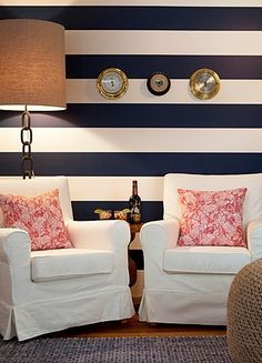 A wonderfully preppy hotel suite designed by Vineyard Vines, today on the blog http://bit.ly/11l5WlG