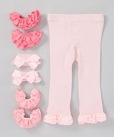 Loving this Pink Angelic Tights Set - Infant, Toddler & Girls on #zulily! #zulilyfinds