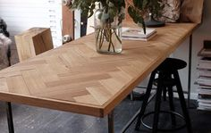 The Fishbone Table by Dry Things found at: http://stilinspiration.blogspot.de/ so beautiful <3