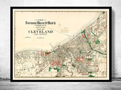 Old Map of Cleveland and suburbs 1912 - product image