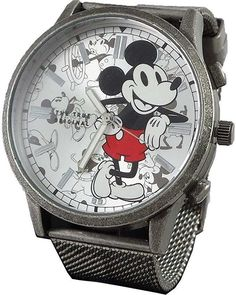 Disney Mickey Mouse Vintage design Men's Metal Watch MK8053 Mickey Mouse Watch, Disney Mickey Mouse, Sport Watches, Watches For Men, Original Mickey Mouse, Casio Classic, Mesh Band, Tin Gifts, Rose Gold Watches
