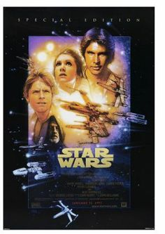 Star Wars movie poster designed by Drew Struzan