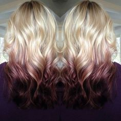 2015 Top 6 Ombre Hair Color Ideas for Blonde Girls Buy & DIY. In recent few seasons, Ombre hair color is no doubt becoming more popular. It obviously has been the Nouveau Chic of many hair designers, frequently seen in fashionREAD Hair Color And Cut, Ombre Hair Color, Blonde Hair With Color, Reverse Ombre Hair, Ombré Hair, Hair Dos, Love Hair, Gorgeous Hair, Red Hair With Blonde Highlights