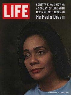 "Coretta Scott King on the cover of ""Life"" magazine, Sept. 12, 1969 issue"
