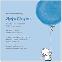 Baby Shower Invitations - Floating Away: Icicle by Tiny Prints
