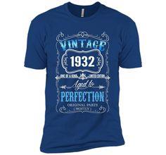 Vintage born in 1932 tshirt 85 Years old birthday