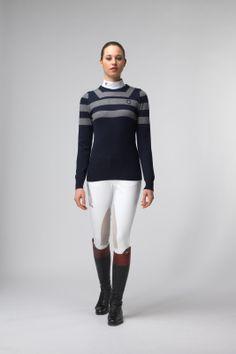 Cavalleria Toscana Woman- Striped Pullover