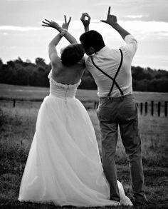 Photos de mariage originales Love is in the air