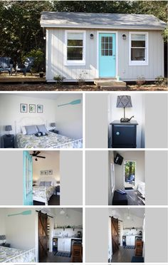 Transforming our Empty Shed into a Cozy Backyard Guest House – Broke in Charleston Tiny Guest House, Backyard Guest Houses, Guest House Plans, Shed House Plans, Shed To Tiny House, Backyard Cottage, Cozy Backyard, Guest Cabin, Shed Guest Houses