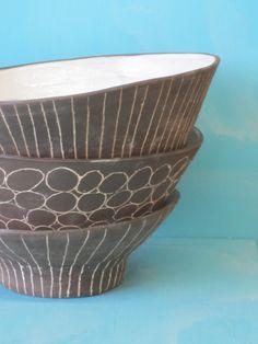 paula greif black terracota bowls