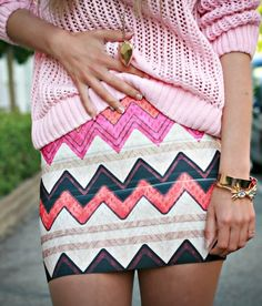 Aztec Skirt and sweater