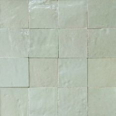 #1062 Very Light Gray Zellige, Moroccan glazed tiles in a wide range of pearlised colours.