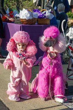 As a toddler, my BFF was our standard poodle. If I had a daughter, I would do this with her & the dog. (good thing I don't have kids :) Love My Dog, Puppy Love, Pink Poodle, Poodle Mix, Poodle Cuts, French Poodles, Standard Poodles, Dog Grooming, Fur Babies