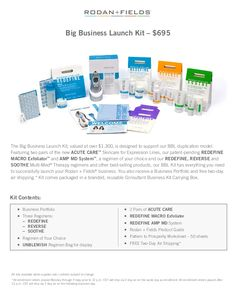Image result for rodan and fields business kits 2016