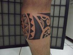 tatuajes detras pierna gemelo polinesios maoris samoa mixto original