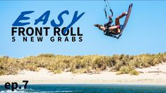 EASY kiteboarding front roll with 5 NEW grabs High Jump, 5 News, Big Waves, Western Australia, Surfing, Rolls, Easy, Instagram, Kite