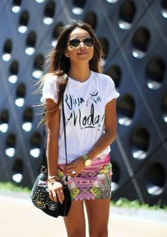 Graphic T-Shirts Graphic Skirts Studded Shoulder