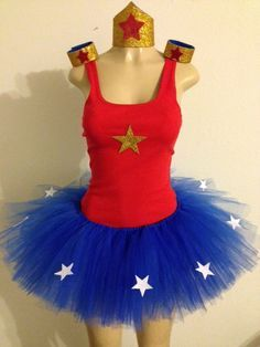 Hey, I found this really awesome Etsy listing at https://www.etsy.com/listing/221250634/wonder-woman-tutu-costume
