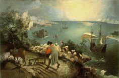 De val van Icarus (c. 1558)Pieter Bruegel de Oude