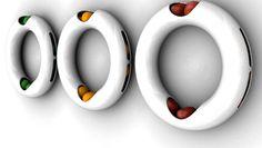 """""""The Ring"""" Fruit Bowl  (15 Modern Fruit Bowls - Oddee.com)"""