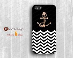 IPhone 5 case IPhone 4 case colorized anchor and by Atwoodting, $7.99