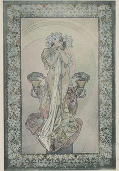 "songesoleil: ""Sarah Bernhardt dans La Princesse Lointaine, pièce d'Edmond Rostand. Art by Alfons Mucha. (1860-1939). bnf.gallica.fr """