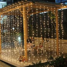 Lightess 600 LED Curtain Icicle Lights with Remote Control String Fairy Lights 8 Modes for Indoor/Outdoor Wedding Lights Decoration Warm White, Length x Width Led Curtain Lights, Icicle Lights, String Lights Outdoor, Led String Lights, Outdoor Lighting, Window Lights, Lighting Ideas, Light String, Fairy Light Curtain
