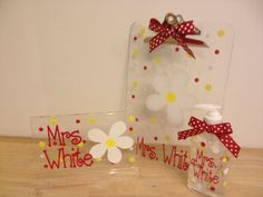 Desk gift set Personalized with name acrylic desk by DeLaDesign, $33.00