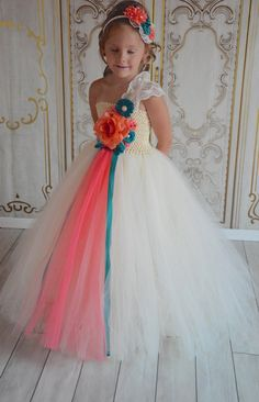 Hey, I found this really awesome Etsy listing at https://www.etsy.com/listing/153772859/oasis-and-coral-flower-girl-tutu-dress