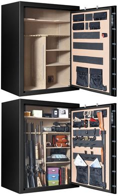 Cannon Armory A80 Gun Safe.  Now THIS is what I call a Gun Safe.  A true collector's tactical beauty-- storing up to 80 long guns, with a dual action EMP lock and 12 solid steel locking bolts.  If you have enough guns to arm a small militia, this Armory Gun Safe is the PERFECT safe for you!