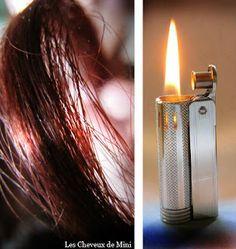 Les cheveux de Mini: Le brûlage des fourches : les éliminer sans couper !