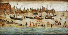 L. S. Lowry - The Beach.