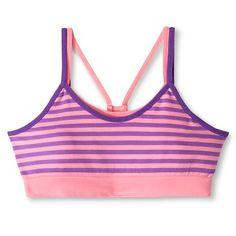 Girls' Seamless Striped Reversible Sports Bra Pink - Circo™