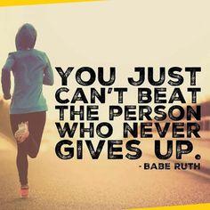 Yes - The one who never gives up, Can't be beaten! . . . #Running #fitness #Inspiration #MDUB #Runner #Outdoors #Outdoorrun #Motivation #Positivity #Keepgoing #Utah #Utahrunner #Runmotivation #Gorun #Athlete #Athletics #Runningfitness #Fitnesspro #Onthego #Runningworld #Letsrun #fitnessinspiration