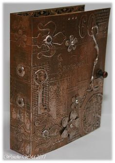 Metal tape book cover - link contains step by step...
